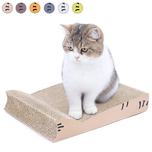 AMZNOVA - Almohadilla para rascar Gatos, rascadores para Gatos, cartón Corrugado reciclable con Parte Inferior
