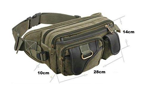 Gürteltasche in 3 Farben Hüfttasche Bauchtasche Angeltasche Schultertasche Jogging Tasche (braun) khaki