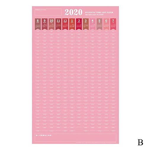 best quality - calendar - creative 2020 large calendar planner planner 365 days punch card fitness schedule self-discipline table to send 4 stickers - by rocco - 1 pcs