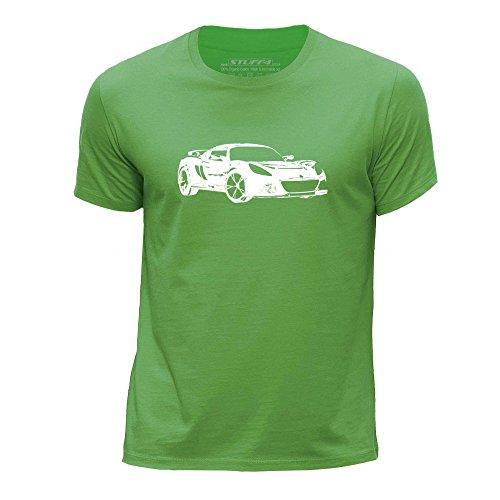 stuff4-garcons-12-14-ans-152-164cm-vert-col-rond-t-shirt-stencil-art-de-voiture-exige-s