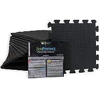 ZenProtect Schutzmatten Set mit 18 Puzzlematten mit je 30x30x1 cm | Premium Bodenschutzmatte & Fitness-Matte für das Training Zuhause | Die Sport-Schutzmatte für den Keller und Fitnessgeräte