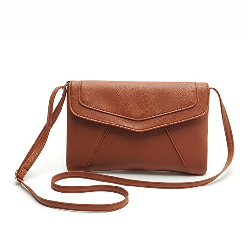 Ouneed Women Envelope Satchel Cross Body Shoulder Bags Vintage Handbags (Brown)