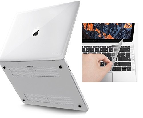 MacBook Pro 13 Fall & Tastatur, 2016 und 2017, Besteck Glatte matt Matte Hard Shell Cover für Apple MacBook Pro 33 cm Zoll A1706 A1708 mit Retina Display 2016 und 2017 mit Touch Bar farblos 13 zoll - Fall Pro-fall Matt Macbook 13