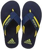 Adidas Men's Toeside Mysblu and Yellow Flip-Flops - 6 UK/India (39 1/3 EU)(CJ0713)