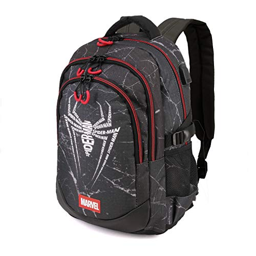 Karactermania Spiderman Web-zaino Running Hs Rucksack, 44 cm, 21 liters, Mehrfarbig (Multicolour)