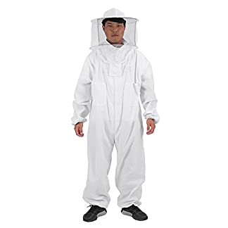Zerodis Beekeeping Suit Beekeeping Protective Equipment Bee Keeping Full Body Cloth with Veil Hood Total Protection for Professional & Beginner Beekeepers(XL) 24
