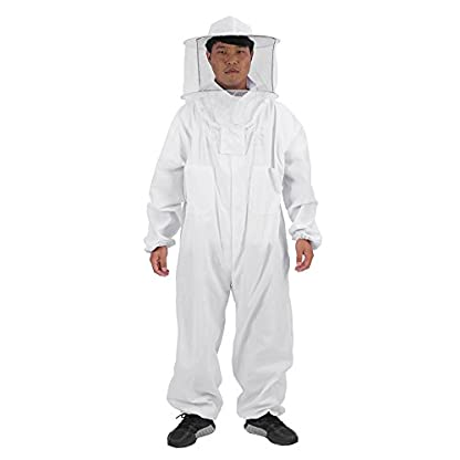 Zerodis Beekeeping Suit Beekeeping Protective Equipment Bee Keeping Full Body Cloth with Veil Hood Total Protection for Professional & Beginner Beekeepers(XL) 1