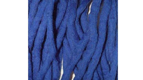 Elektrisches Blau handgemachte Wolle Dreadlocks bei Hunden - Double ended klarzukommen Merinowolle