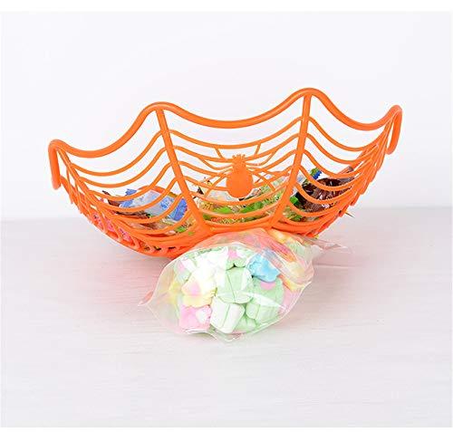 (YUWANW Dekoratives Requisiten-Plastikspinnen-Frucht-Blau-Arrangement-kreative Süßigkeits-Platte - Halloween - Orange)