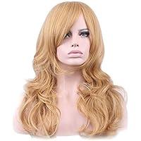 Frcolor 28 pulgadas los 70cm Largas Pelucas de Cosplay Peluca de Pelo Largo  para Mujer Niña 32430db20aae