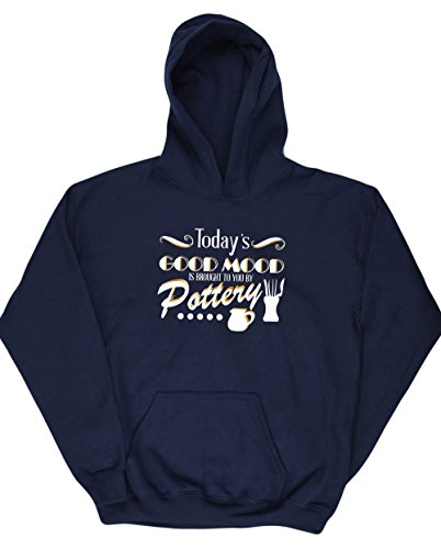 hippowarehouse-todays-good-mood-is-brought-to-you-by-pottery-kids-unisex-hoodie-hooded-top