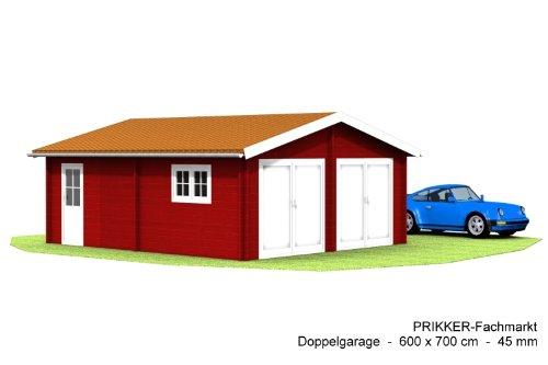 Doppelgarage Blockbohlen-Doppel-Garage Roger