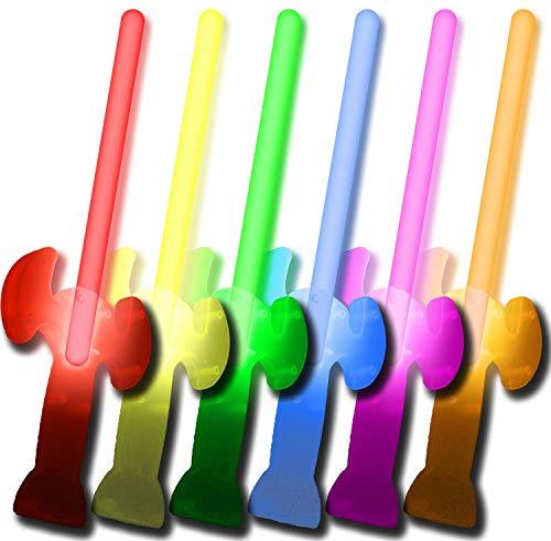 6 Knicklichter Leucht-Schwerter FARBMIX - 5 kaufen + 1 GRATIS! - Komplett-Set - Fabrikfrische Qualitätsware - seit 12 Jahren in Markenqualität - unter eigenem Label produziert.