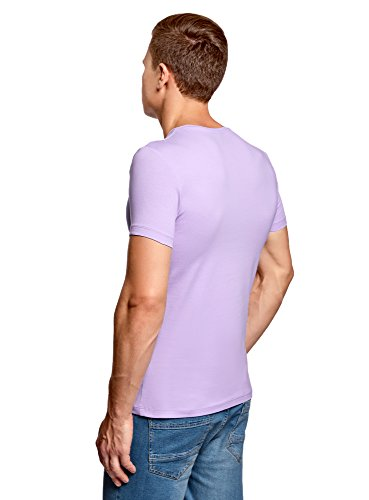 oodji Ultra Uomo T-Shirt Basic (Pacco di 3) Multicolore (1900N)