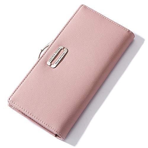 Schnallenmappe der Handtasche-Geldbörsen-Damen lang (19 * 9cm), Rosa