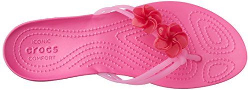 Crocs - Isabella Embellished, Sandali infradito Donna Rosa (Candy/Pink/Party/Pink)
