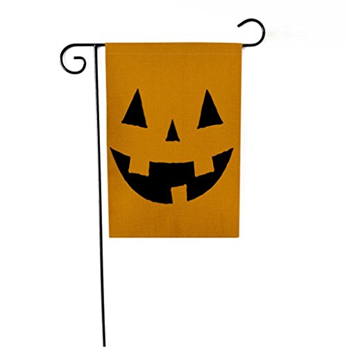 Twin Halloween 2017 Kostüme (HCFKJ 2017 Mode Halloween Custom KüRbis Halloween Dekoration Garten Flagge 12 X 18 Inch)