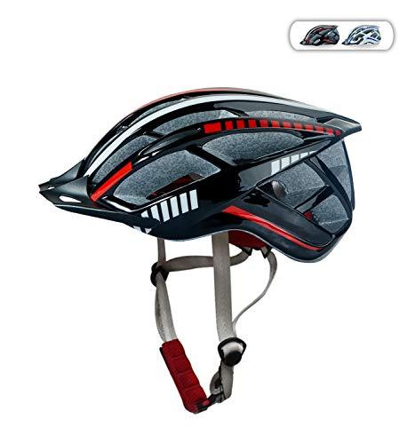 Fengding Herren Fahrradhelme, Damen- Mountainroad- Helme sowie Mountainbike-Helme sind auf mittelmäßige Größe einzustellen, Mittlere Größe - Schwarz und rot