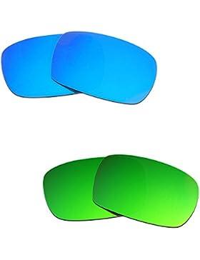 Hkuco Plus Mens Replacement Lenses For Oakley Crankcase Blue/Green Sunglasses