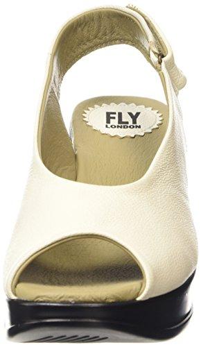 FLY London Damen Hatt680fly Plateau Weiß (OFFWHITE 005)