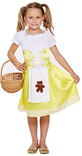 Fancy Me Mädchen gelb Goldlöckchen büchertag Halloween Kostüm Kleid Outfit 4-12 Jahre - Gelb, 10-12 Years (Kostüm Goldlöckchen Kinder)