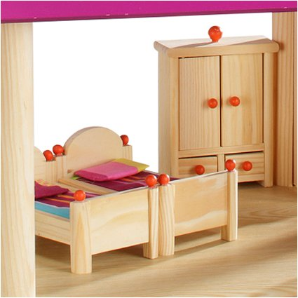 howa Puppenhaus aus Holz incl. 22 tlg. Möbelset und 4 Puppen - 4