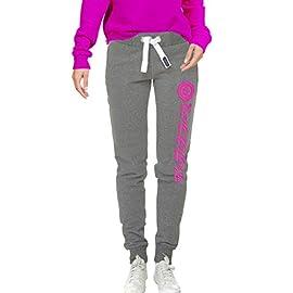 18332e752d94 Conte Pantaloni Donna Jogging Training Fitness Sport in 8 conbinazioni di  Colori Tuta Sportiva da Ginnastica in Felpa Taglia S M L XL Grigio Pink L  Ramona
