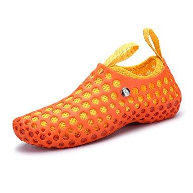 LvYuan Sandali-Tempo libero Casual Sportivo-Comoda Suole leggere-Piatto-Tessuto-Nero Blu Rosso Arancione Red/White