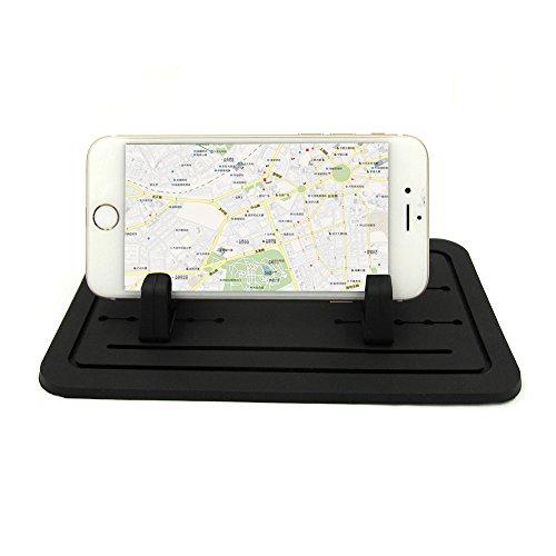 i-greenee nuovo pad silicone antiscivolo tappetino cruscotto auto supporto dock per iPhone 7Plus/6S, 5S, Samsung S7S6S5e smartphone, Tavolo Porta Pc Nero