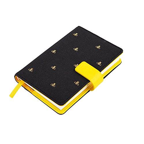 Zantec ordinateur portable mignon Creative Chiffon Housse ordinateur portable Portable haute qualité Plan Journal Diary Book A7 Black Bee