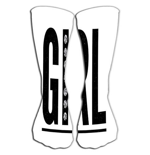 Walnut Cake Hohe Socken Outdoor Sports Men Women High Socks Stocking Girl Slogan Gold Glitter Fashion Tile Length 19.7