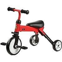 JZM Bicicleta Plegable Del Juguete De La Vespa Del Bebé Del Triciclo Plegable,Red