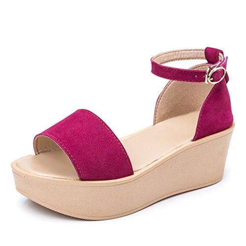 Sandales d'été pour les femmes/ bouche de poisson avec semelle épaisse chez les enfants/Muffin avec une boucle coins souliers pour dames/Sandales B