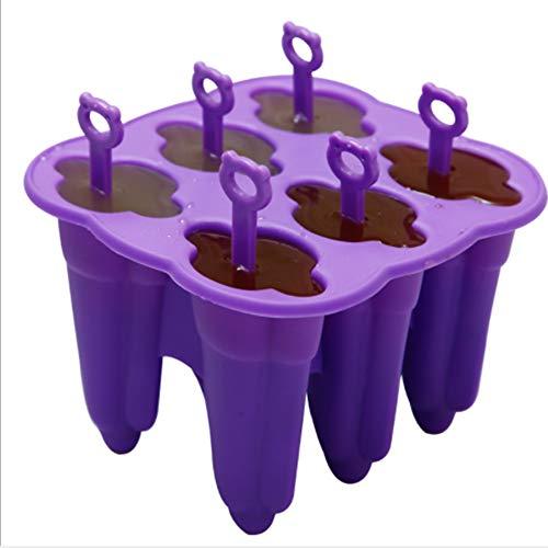 YaHua Li Silikonform für EIS am Stiel, einfach zu entfernen und BPA-frei, EIS am Stiel mit wiederverwendbaren Stiften, 6 Eisformen, die Nicht wie Plastik brechen