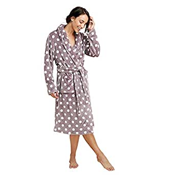 a5227a79873 Lounge   Sleep Womens Taupe Spot Print Dressing Gown 8 to 10  Lounge ...
