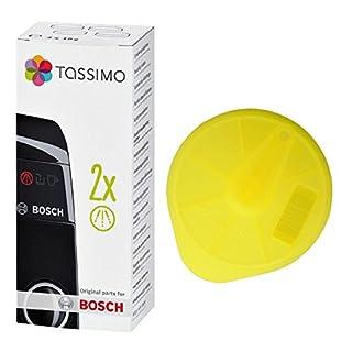 Spares2go Service Disc & Entkalkungstabletten für Bosch Tassimo Kaffeemaschine, Gelb