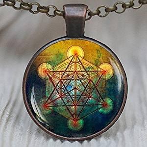 Geometría Sagrada de la joyería, Metatron Cubo colgante, Metatrons Cube, Geométrico Collar, Joyas para hombres