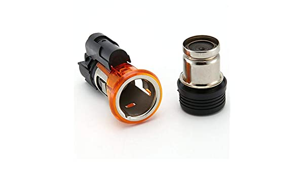 colore: nero 822754 Presa accendisigari universale per auto accendisigari 12V per Peugeot CC SW 206 308 406 607 1007
