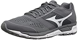 Mizuno Mens Synchro Mx Baseball Shoe, Grey/White, 7 D US