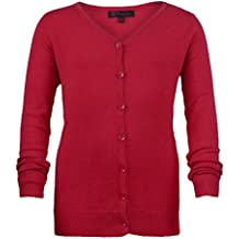 Rot 13-14 Jahre M/ädchen lang H/ülse feine Strickjacke gestrickt Kinder V Auschnitt Pullover TOP