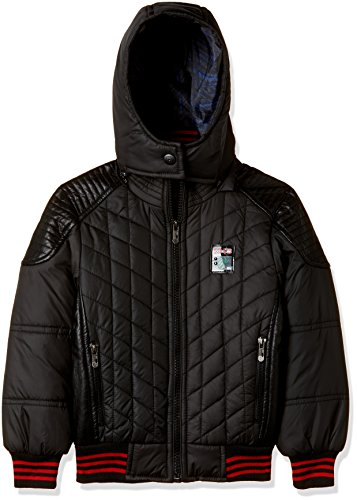 Fort Collins Boys Regular Fit Synthetic Jacket (76129_Black_30 (10 - 11 years))