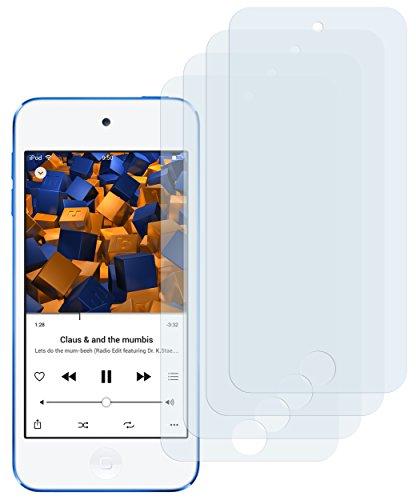 mumbi Schutzfolie kompatibel mit Apple iPod Touch 5G 2012 Folie, iPod Touch 6G 2015 Folie klar, Displayschutzfolie (4x)