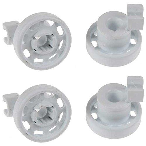 Comme Direct Ltd Lot de 4 roulettes pour panier supérieur de lave-vaisselle Bosch/Neff/Siemens (blanc)