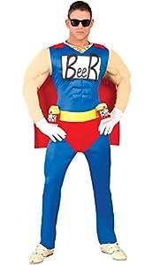 FIESTAS GUIRCA Hombre superhéroe Traje Beerman Cerveza