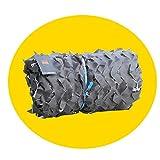QIANGDA Camouflage Netz Tarnnetz Oxford Stoff Leicht Jagdzubehör Blind Beobachten Verstecken Partydekorationen - Grau, Größe Brauch (Size : 3x4m)