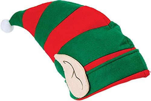 Unisex Erwachsene Weihnachten Verkleidung Party Santa's Helfer Elfen Hut Mit Ohren (Für Erwachsene Santa's Grüne Helfer Weihnachten Kostüm)
