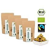 Bio Fairtrade Cashewkerne mit Curry & Meersalz (4x70g) von der Elfenbeinküste | geröstet in Freiburg