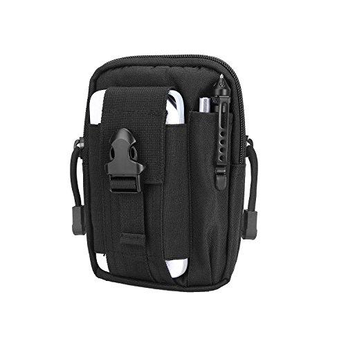Yissvic pouch tattico da cintura marsupio tattico borsa borsello porta oggetti di pronto uso per esterni nero