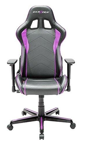 Robas Lund DXRacer OH/FL08/NPFauteuil Gaming avec Assise et Dossier rembourrés Noir/Rose