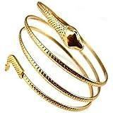 Kwish Spiral Punk Gold Plated Snake Cuff Upper Armband Bracelet Bangles